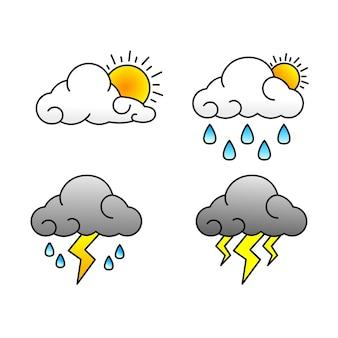 Набор погодных векторов
