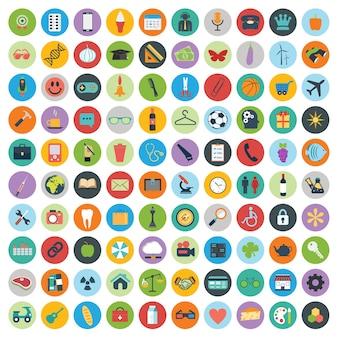 웹 및 기술 개발 아이콘 세트