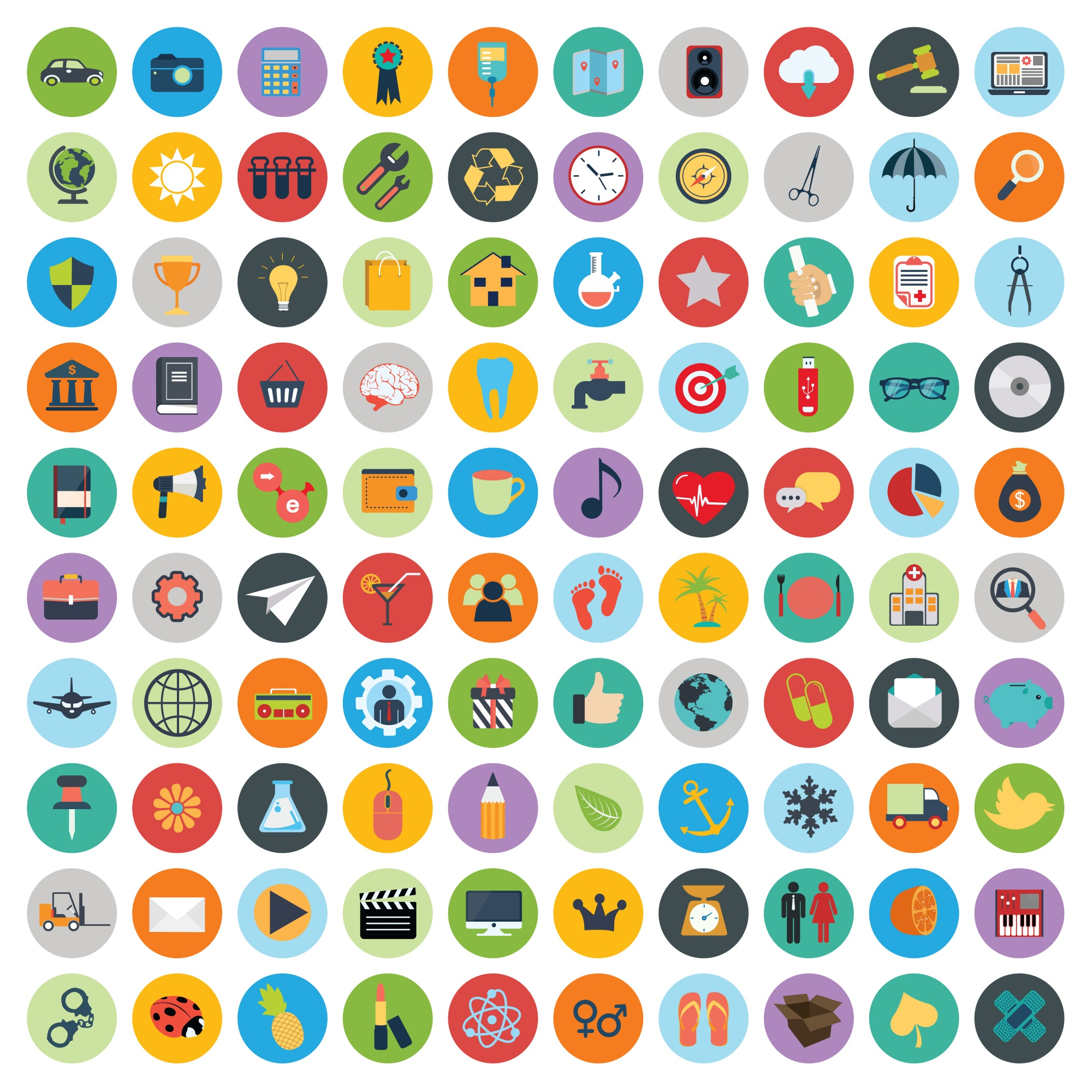 Set of web and technology development icons