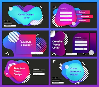 Набор шаблонов дизайна веб-страницы