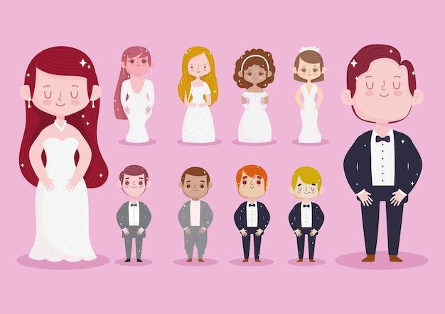 Набор свадебного жениха невесты