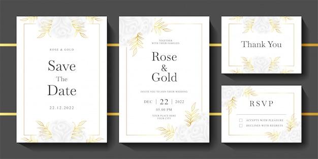 結婚式招待状テンプレートのセット