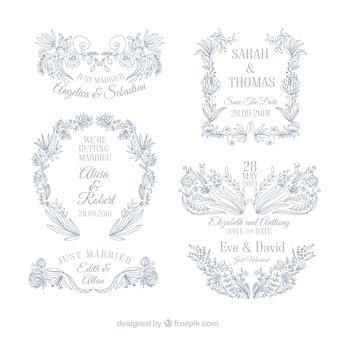 Set of wedding ornaments