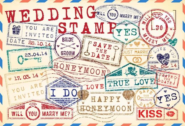 웨딩 우표 세트
