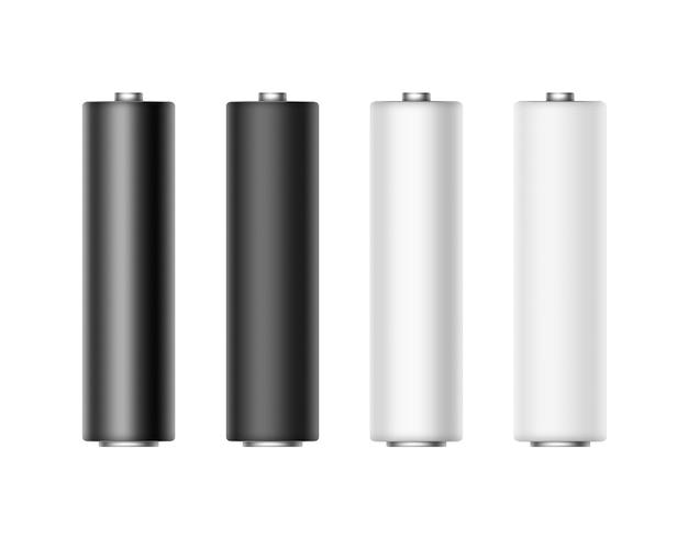 ホワイトブラックメタリックマット光沢電池のセット