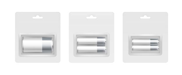 ホワイトグレーシルバーアルカリ電池のセット