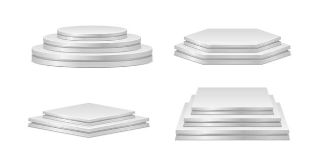 흰색 절연 흰색 연단 세트