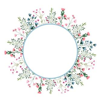 Набор акварельных иллюстраций полевых цветов на белом фоне