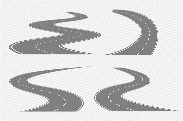 구불 구불 한 도로 및 고속도로 구분 표시 격리 설정