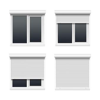 롤링 셔터가있는 windows 세트