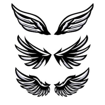 날개 세트