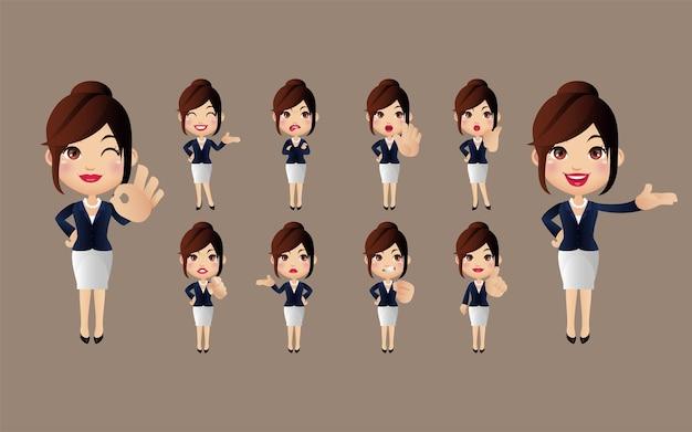Набор женских персонажей