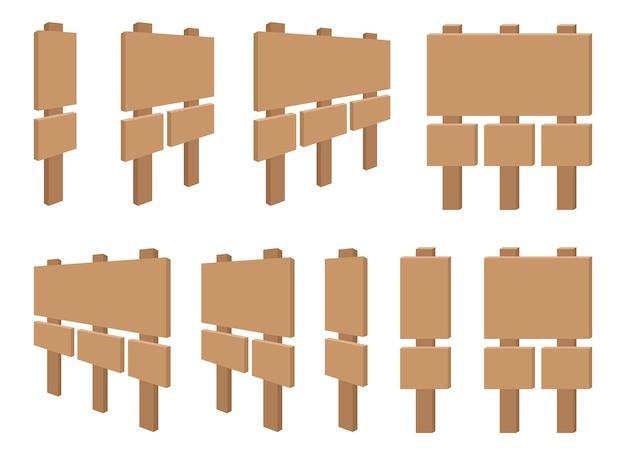 Набор знаков деревянные доски
