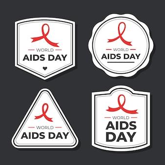 세계 에이즈의 날 배지 세트