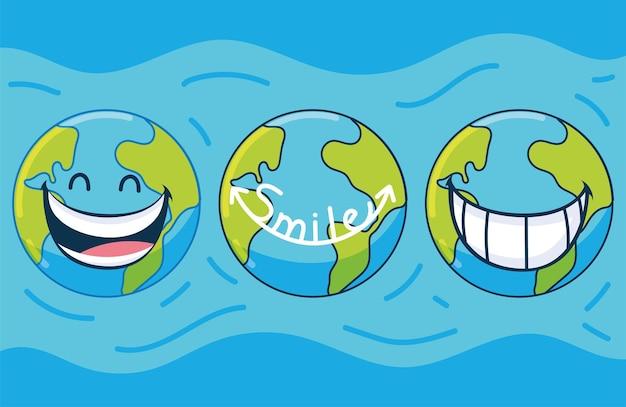 世界の笑顔の日のセット