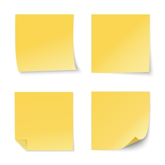 黄色い紙ステッカーセット