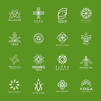 Set of yoga and spa logo