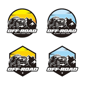 Set of off road logo template