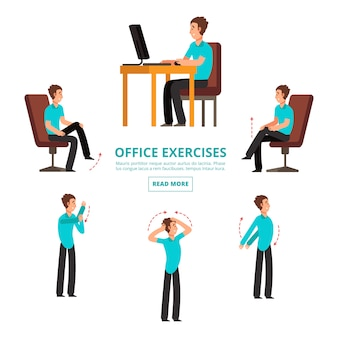 Set of office exercises