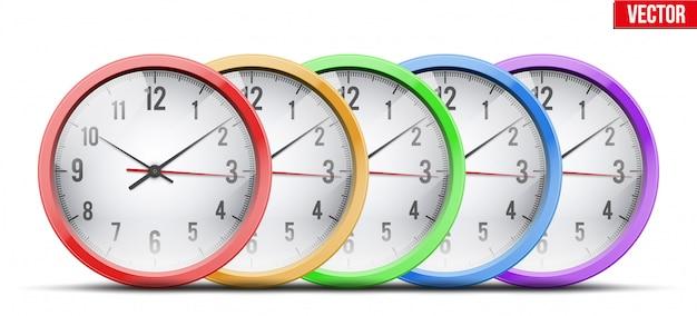Set of office wall clock
