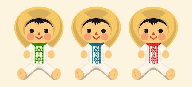 Набор мексиканской традиционной мужской куклы