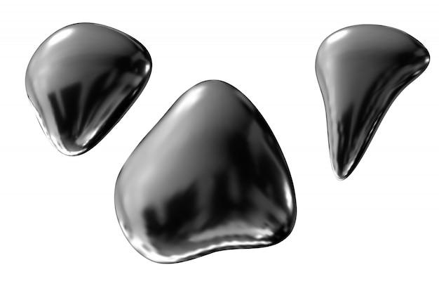Set of oil drops.