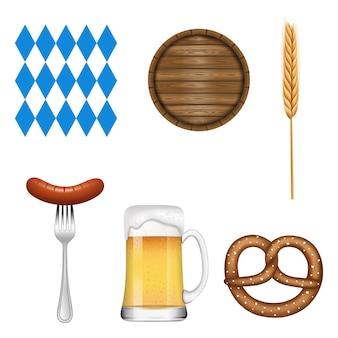 Set of oktoberfest elements