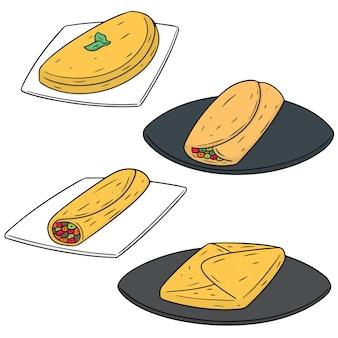 Set of omelette
