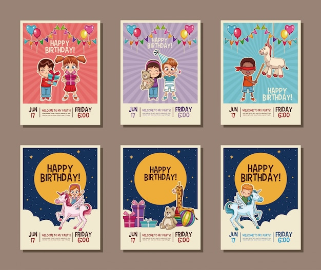 Набор на день рождения пригласительный билет для детей
