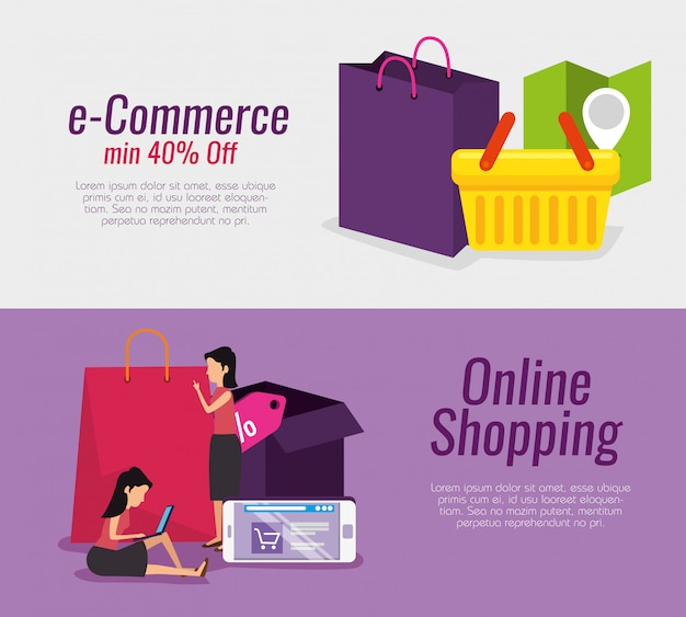 Set online shopping technology and ecommerce market