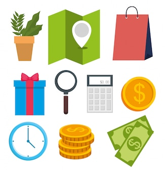 Set online shopping technology with location and ecommerce
