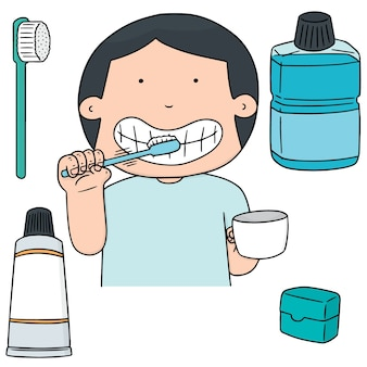Set of oral care