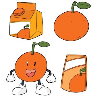 Set of oranges
