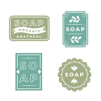 Set of organic soap label