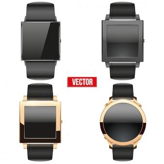Set of original smart  example wrist watch.