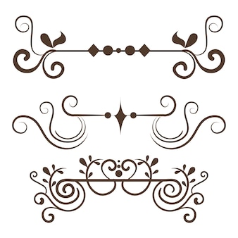 Set of ornamental borders