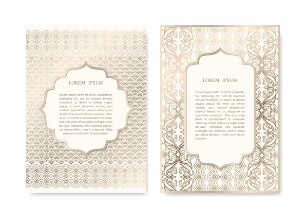 Set of ornamental cards
