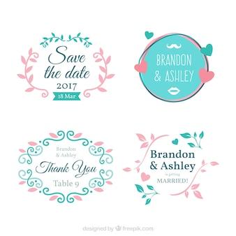Set of ornamental frames for bachelorette party