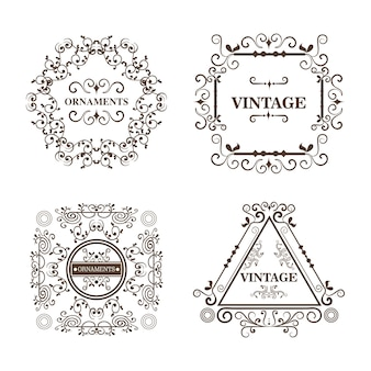 Set of ornamental frames
