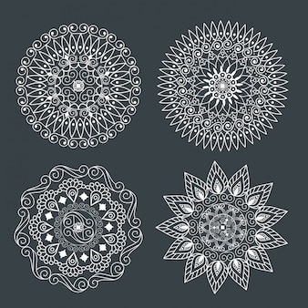 Set ornamental mandala for decoration