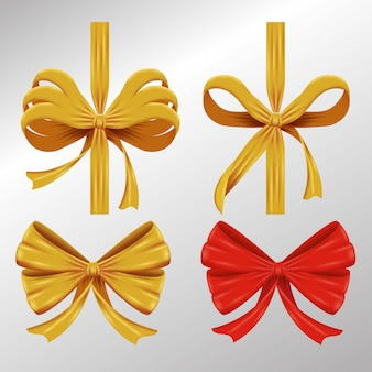 Set of ornamental ribbons