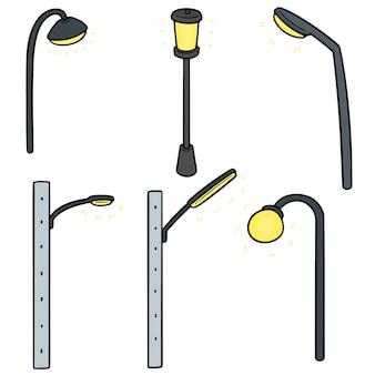 Set of outdoor lamp