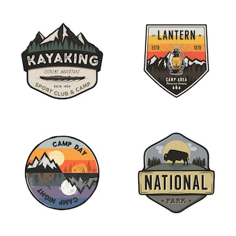 Set of outdoors logos