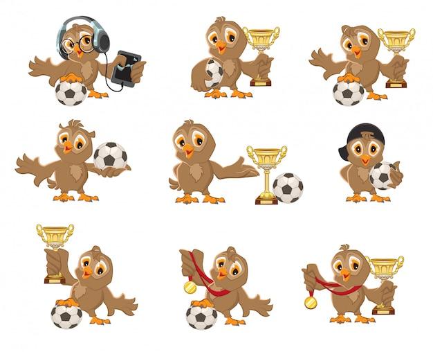 Набор сова птица футбол