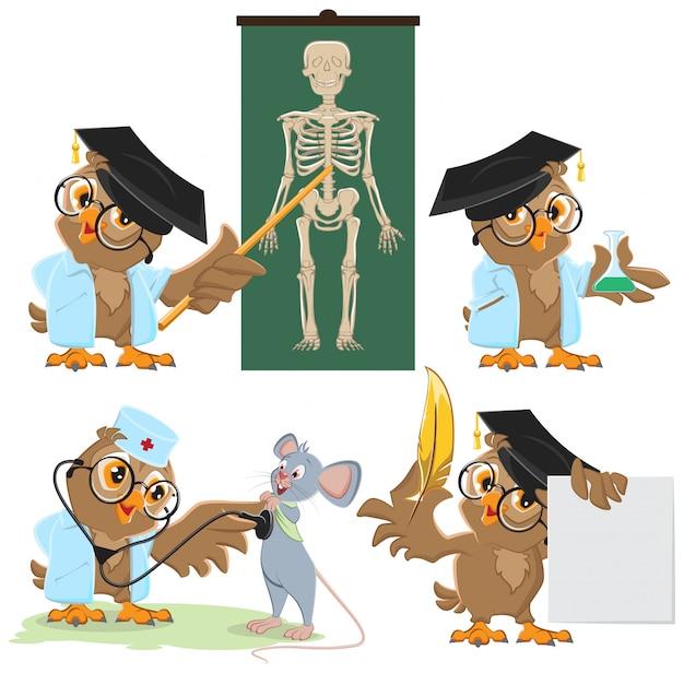 Установите сова доктор и мышь