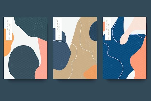 포장 템플릿을 설정하십시오. 일본식 패턴으로 아시아 스타일의 선 패턴.