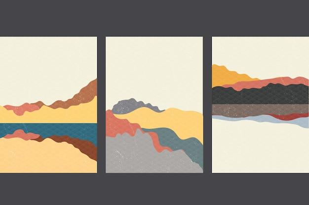 パッケージテンプレートを設定します。日本のパターンとアジアンスタイルのラインパターン。