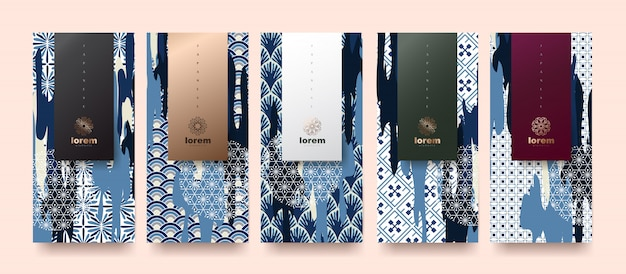 Set packaging templates for premium products.