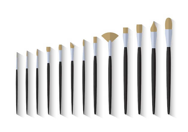 Set of paint brush stationary