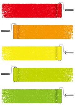 Set of paint roller paint